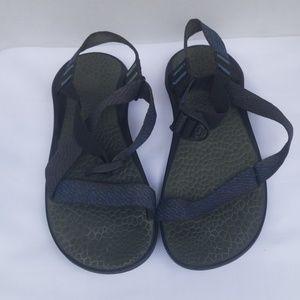 Chaco Men Classic Black Blue Sandals11